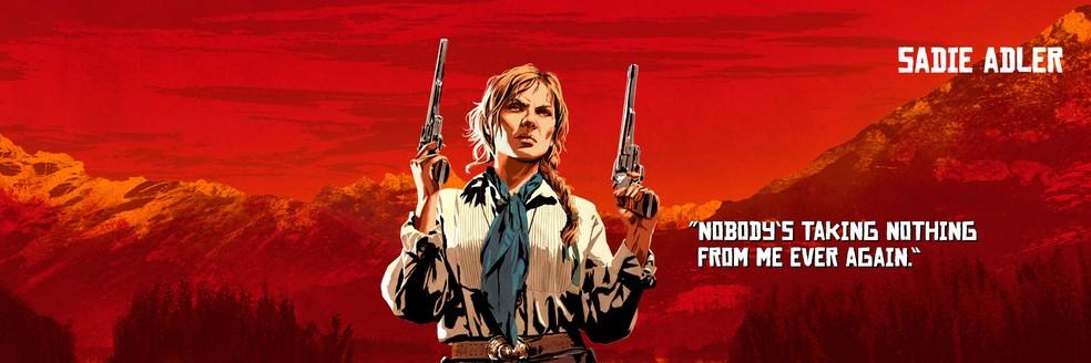 Sadie Adler, de Red Dead Redemption 2 — Foto: Divulgação/Rockstar