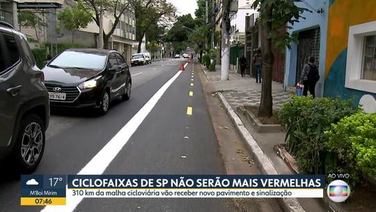Prefeitura apaga a cor vermelha das ciclovias de São Paulo