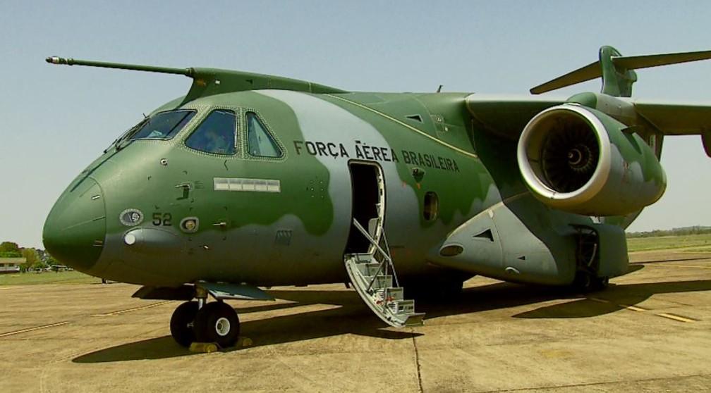 KC-390, o maior avião cargueiro militar da América Latina — Foto: Ely Venancio/EPTV