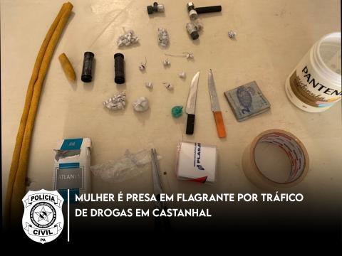 Mulher é presa suspeita de vender drogas em feira de Castanhal