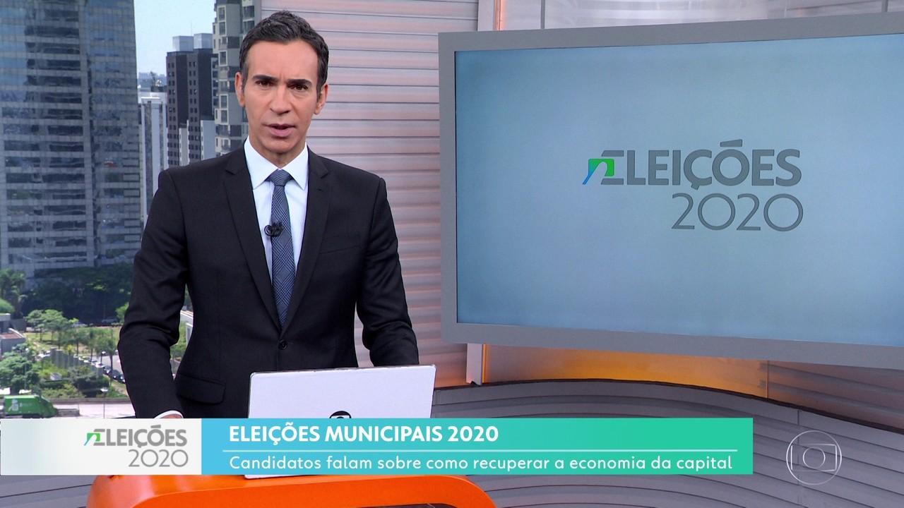 Candidatos à prefeitura de São Paulo falam sobre propostas para recuperar o comércio