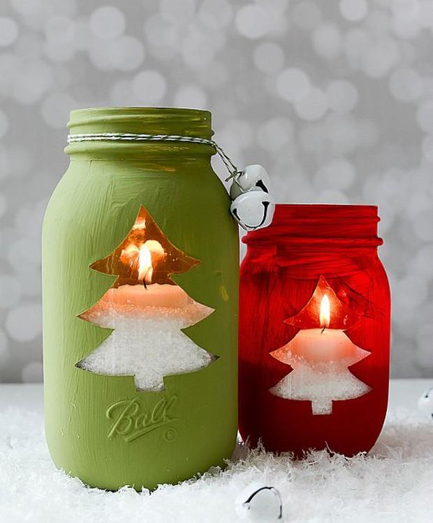 Velas de Mason Jars (Foto: Pinterest/Reprodução)