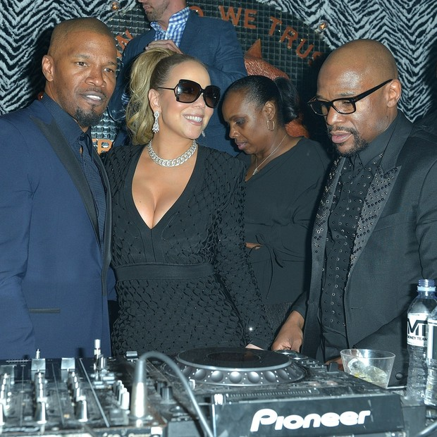 Jamie Foxx, Mariah Carey e Floyd Mayweather (Foto: AKM/GSI)