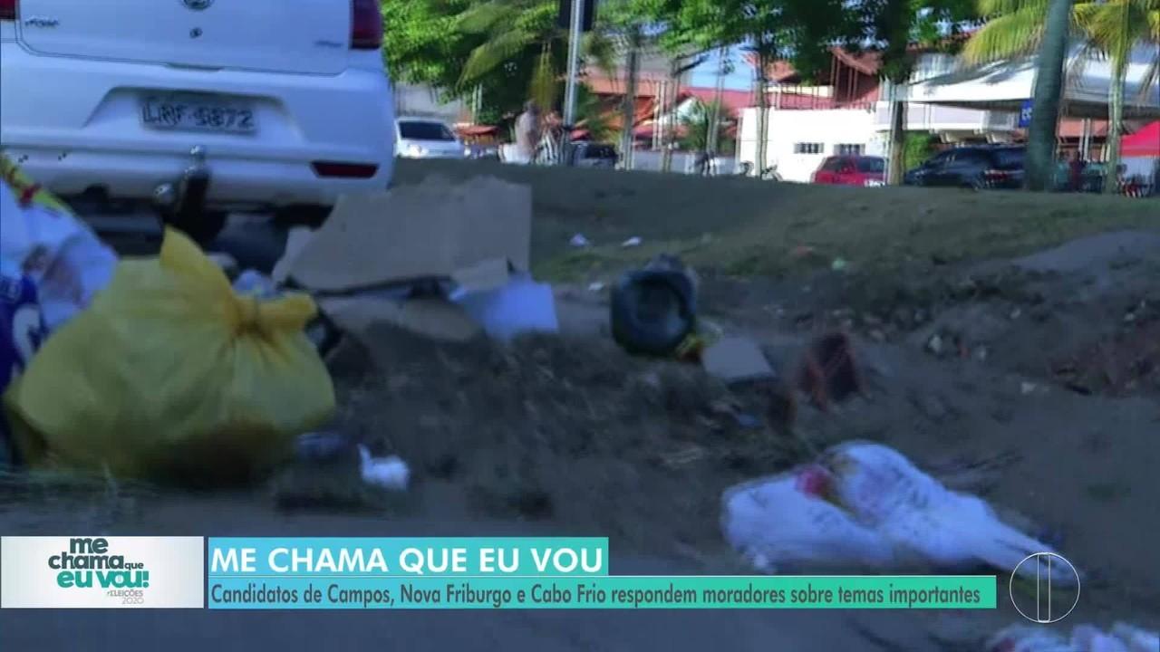 'Me chama que eu vou': Candidatos de Cabo Frio respondem morador sobre Limpeza Urbana