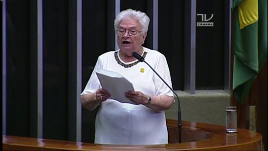 Veja o discurso de Luiza Erundina (PSOL-SP) à presidência da Câmara dos Deputados