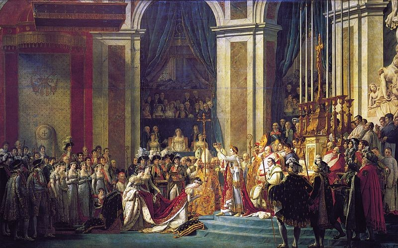 Coroação de Napoleão Bonaparte em pintura de Jacques-Louis David (Foto: Wikipedia Commons)