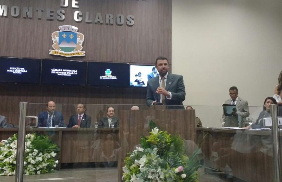 Cláudio Prates é presidente da Câmara de vereadores de Montes Claros (Foto: Juliana Peixoto/G1)