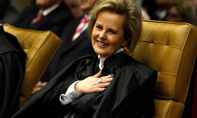 A ministra Rosa Weber durante sua posse no STF, em 19 de dezembro de 2011