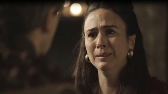 Lucrécia descobre armação de Rodolfo: 'Ele queria um motivo pra ficar livre'