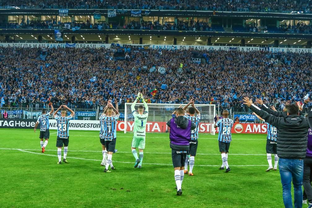 """Vitória veio em um ambiente """"de Libertdores"""" (Foto: Lucas Uebel/Grêmio)"""
