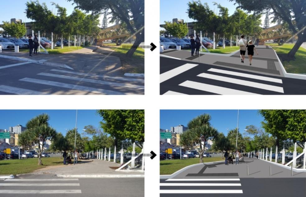 Prefeitura divulgou imagens de como deve ficar a acessibilidade na região (Foto: Prefeitura de Florianópolis/Divulgação)