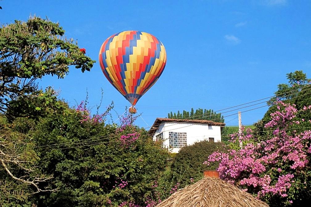 Passeio de balão é uma das opções de roteiro no Sul de MG (Foto: Divulgação/Rota do Café)