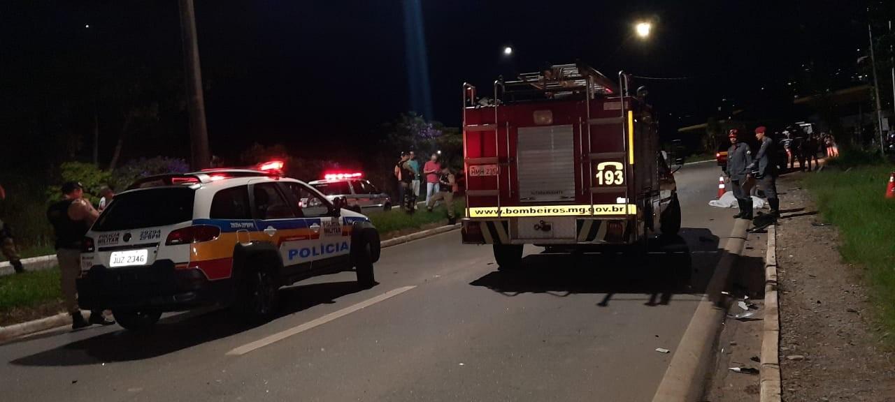 Policial morre atropelado e outro fica ferido em Poços de Caldas, MG
