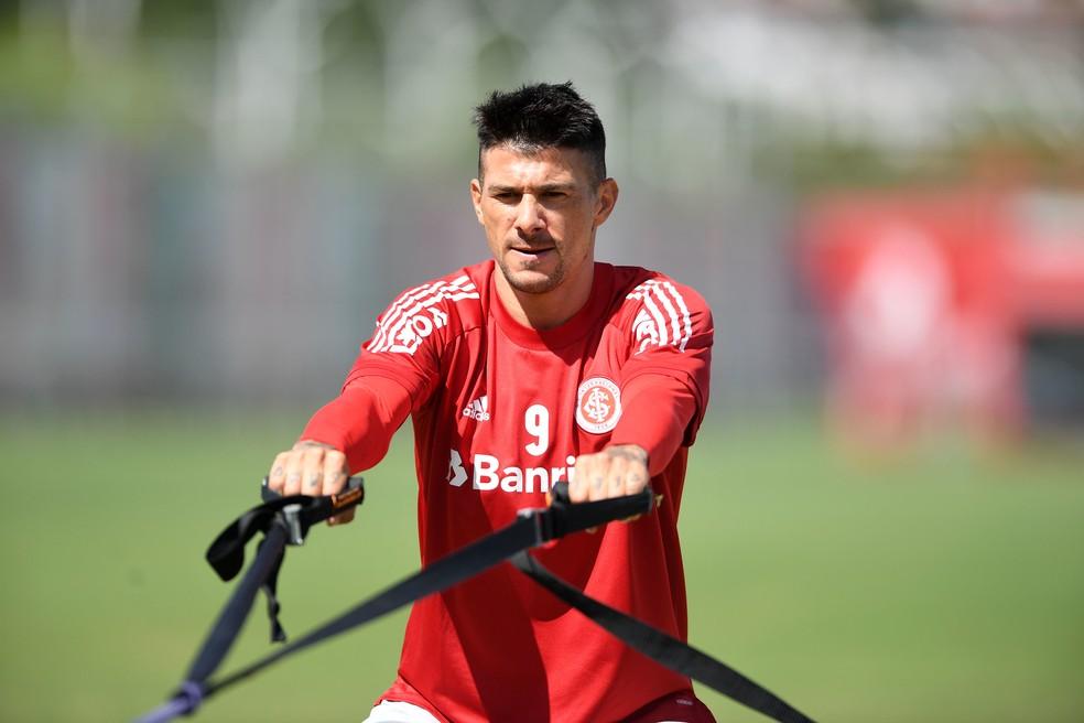 Cuesta em treino físico do Inter — Foto: Ricardo Duarte/Divulgação Inter