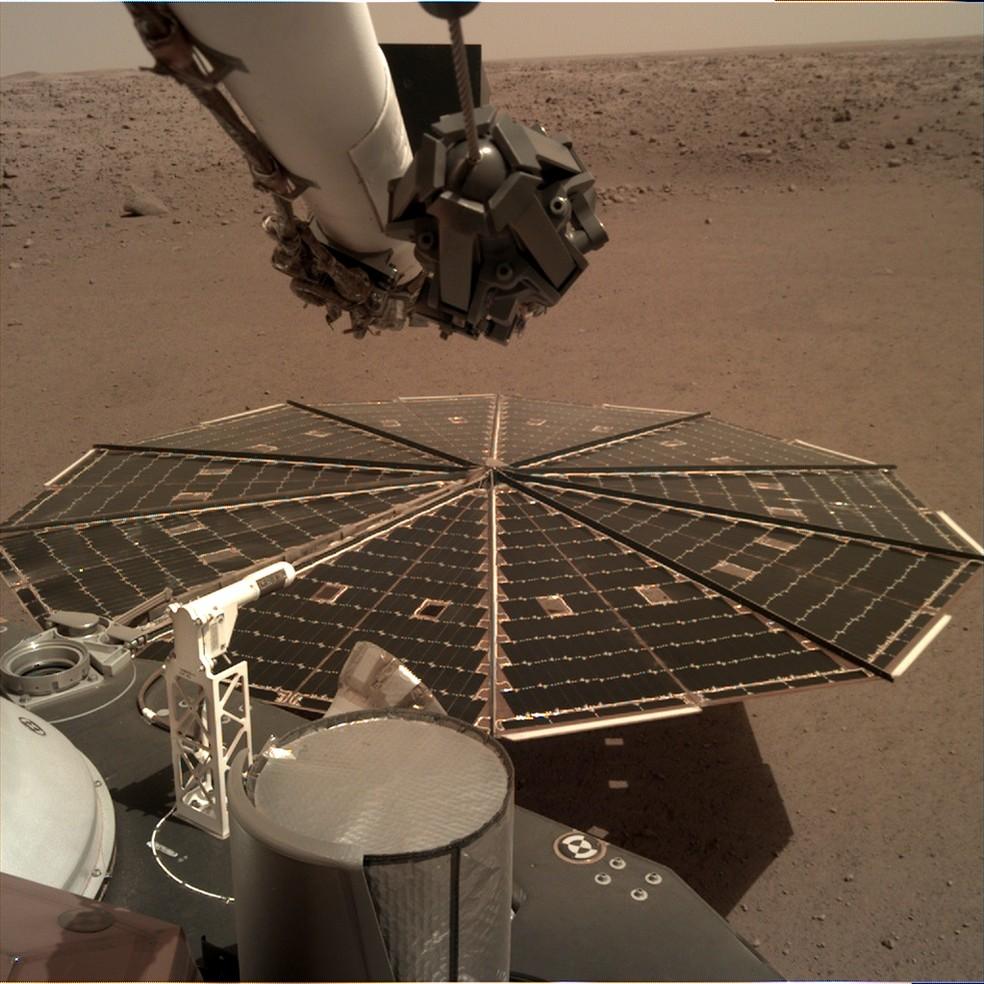 Imagem feita pela sonda Insight em Marte ? Foto: Nasa