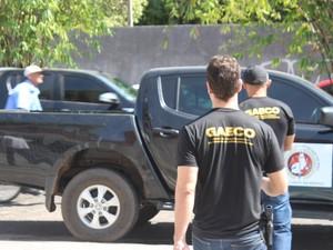 Quatro são presos pelo greco suspeitos de fraudar concurso da Sejus (Foto: Fernando Brito/G1)