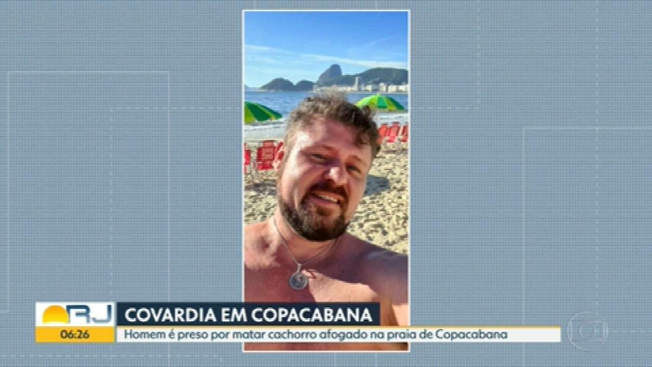 Homem é preso por suspeita de matar cachorro afogado em Copacabana
