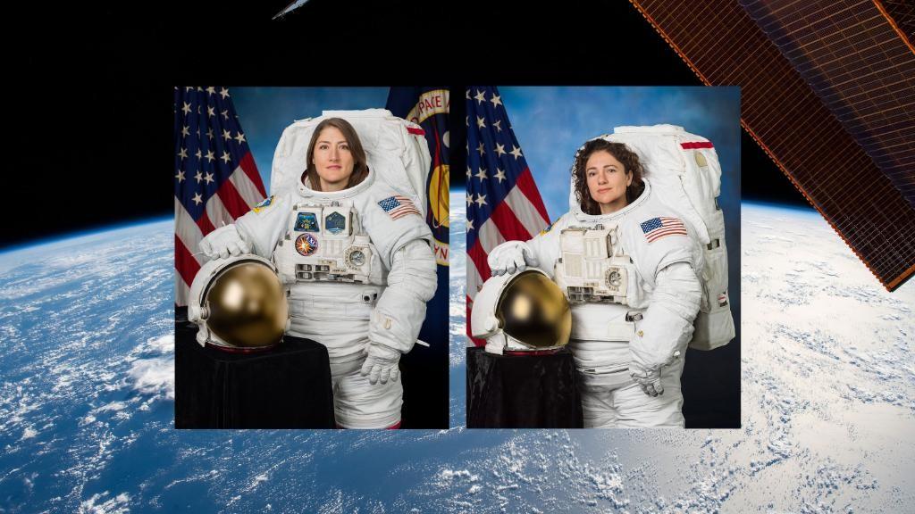 Duas astronautas fazem uma caminhada no espaço, um feito histórico - Notícias - Plantão Diário