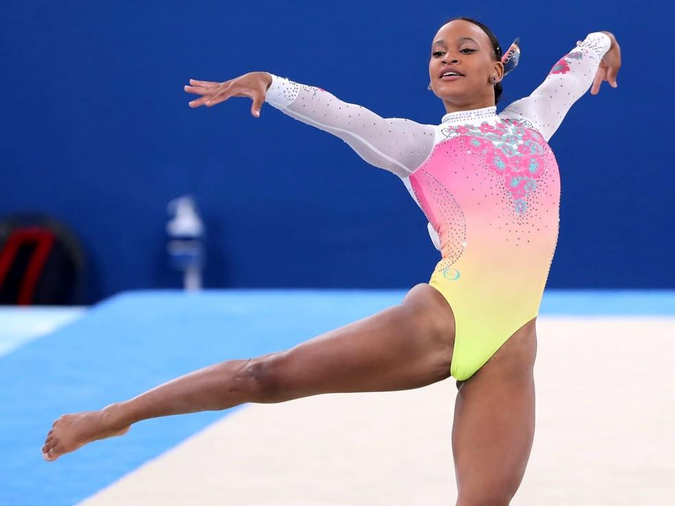 Rebeca Andrade fica em quinto na final do solo nas Olimpíadas de Tóquio — Foto: Ricardo Bufolin/ Panamerican Press / CBG