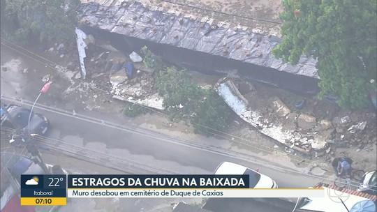 Chuva volta a provocar alagamentos no Rio e na Baixada Fluminense e ruas amanhecem com bolsões d'água
