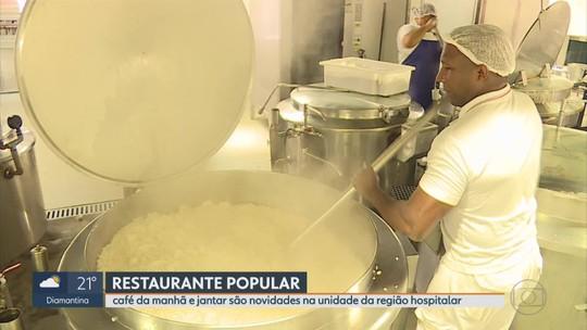 Restaurante popular da Região Hospitalar, em BH, passa a servir café da manhã e jantar