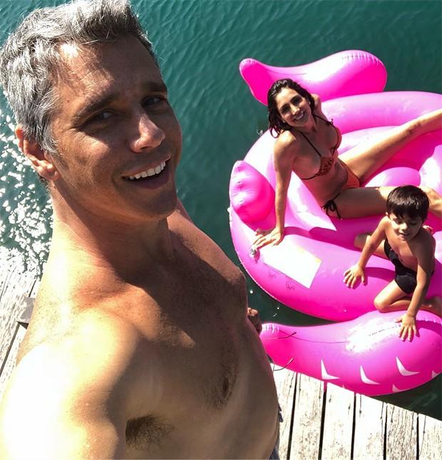 Marcio Garcia com sua família (Foto: Reprodução/Instagram)