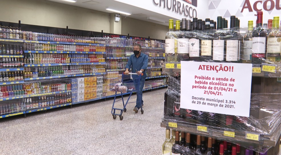 Prefeitura de Guará (SP) proíbe vendas de bebidas alcoólicas até o dia 21 de abril — Foto: Reprodução/EPTV