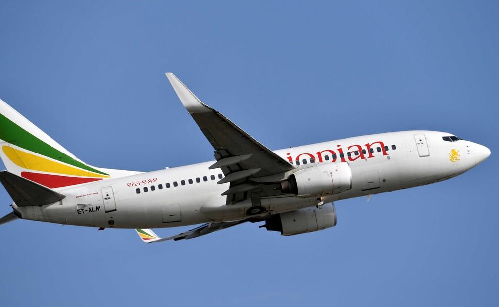 Imagem de 28 de novembro de 2017 de uma Boeing 737-700 da Ethiopian Airlines — Foto: Arquivo / Issouf Sanogo / AFP Photo
