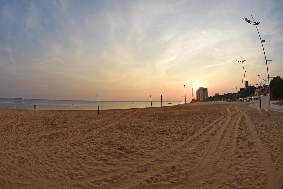 Praia de Ponta Negra, em Manaus — Foto: Ingrid Anne/Semcom