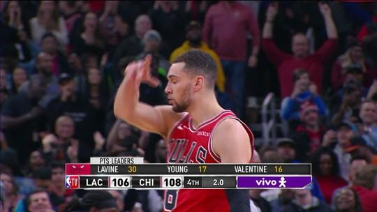 LaVine leva os Bulls à vitória sobre os Clippers com jogadaça de três pontos no fim de duelo na NBA