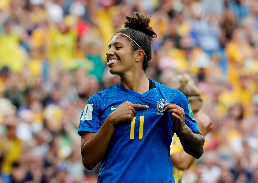 Cristiane é a artilheira do Brasil na Copa do Mundo com quatro gols — Foto: Reuters