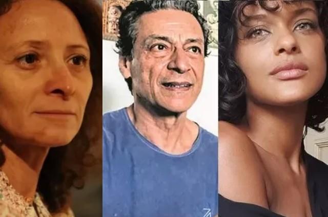 Marcélia Cartaxo, Luiz Carlos Vasconcelos e Thainá Duarte farão 'Cangaço novo' (Foto: Divulgação, Acervo pessoal e Instagram)