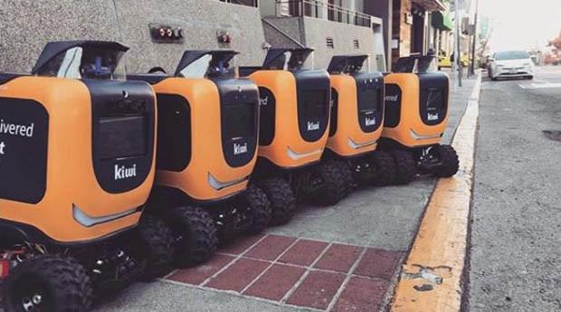 kiwibot, robo, delivery (Foto: Reprodução/Facebook/KiwiBot Berkeley)