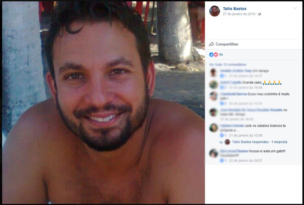 Professor Tallis Silva Bastos (Foto: Reprodução/Facebook)