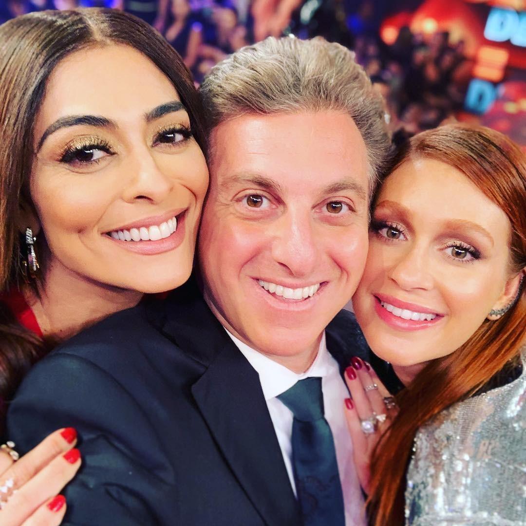 "Luciano Huck se declara para Juliana Paes e Marina Ruy Barbosa: ""Minhas amigas queridas"""