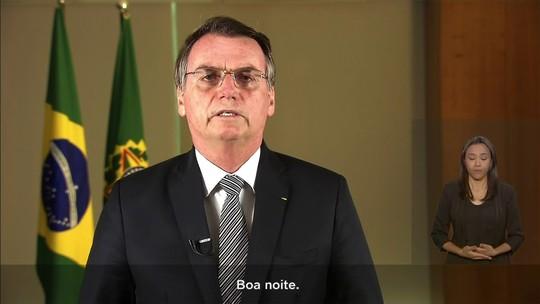 Bolsonaro promete 'tolerância zero' com crime ambiental em fala na TV sobre Amazônia
