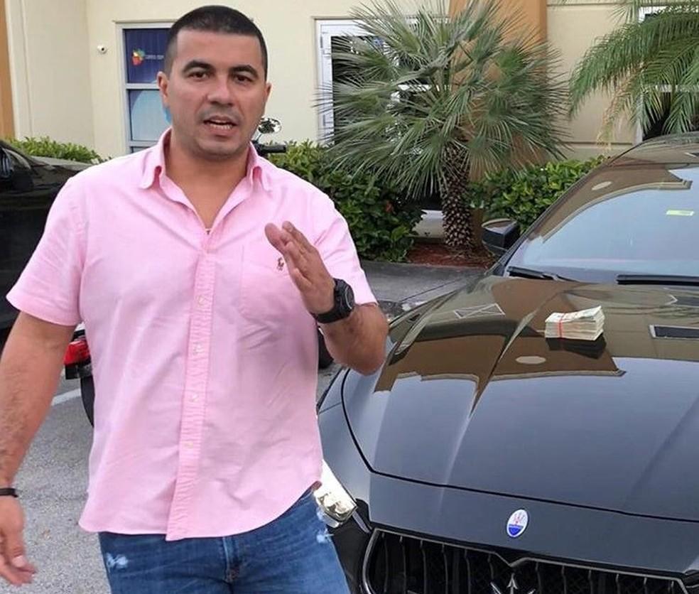 Nos Estados Unidos, Luís Miranda trabalha com a venda e a compra de carros e imóveis; ele foi eleito deputado federal pelo DF  — Foto: Arquivo pessoal