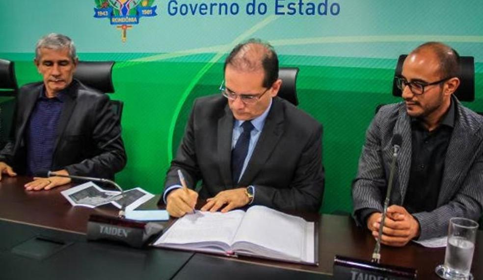 Fabiano tomou posse nesta semana em Porto Velho — Foto: Governo de Rondônia/Divulgação