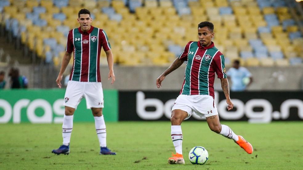 Nino e Allan, do Fluminense — Foto: Lucas Merçon