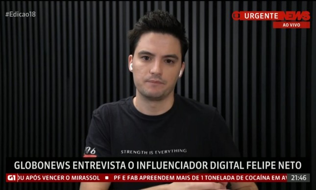 Felipe Neto no Globonews Debate