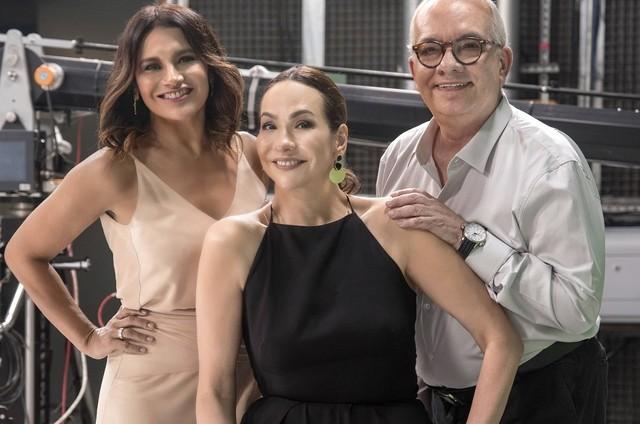 Dira Paes, Maria Beltrão e Artur Xexéo (Foto: Divulgação)