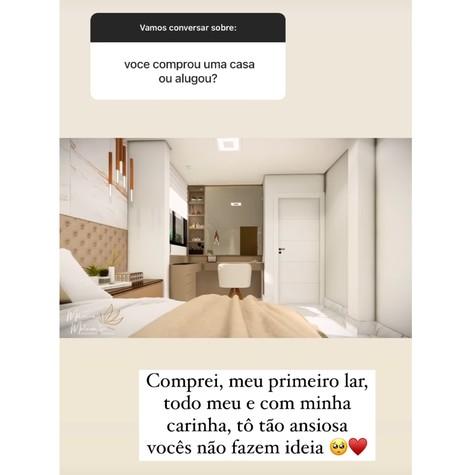 Viih Tube mostra futura quarto de seu apartamento (Foto: Reprodução)