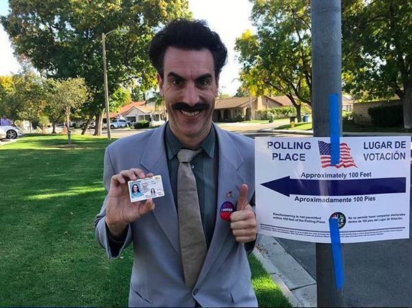 O ator Sacha Baron Cohen como o personagem Borat (Foto: Instagram)