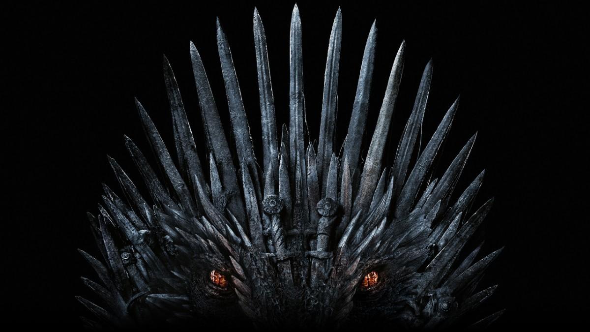 Trono que lembra dragão é usado na divulgado da última temporada de Game of Thrones (Foto: Reprodução/HBO)