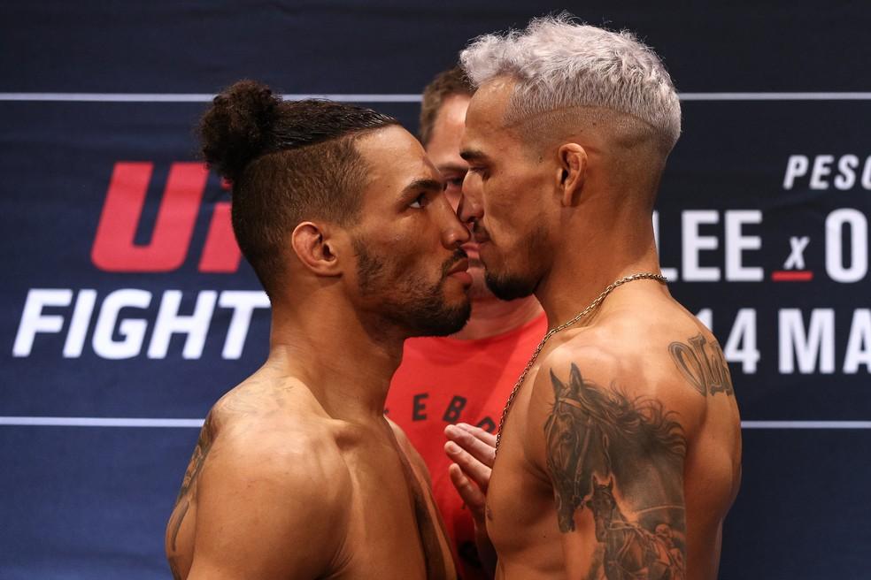 Kevin Lee e Charles do Bronx fazem a luta principal do UFC Brasília — Foto: Getty Images