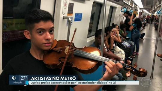 Alerj afirma que vai recorrer contra decisão de proibir apresentações em vagões de trens, metrôs e barcas
