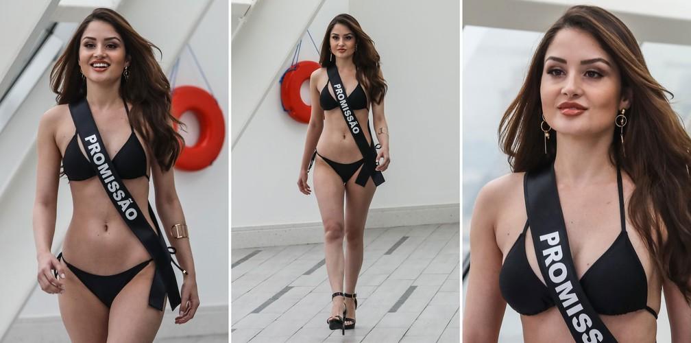 A Miss Promissão, Isabella Lorraine Domingues, de 25 anos, candidata a Miss São Paulo 2018 (Foto: Fábio Tito/G1)
