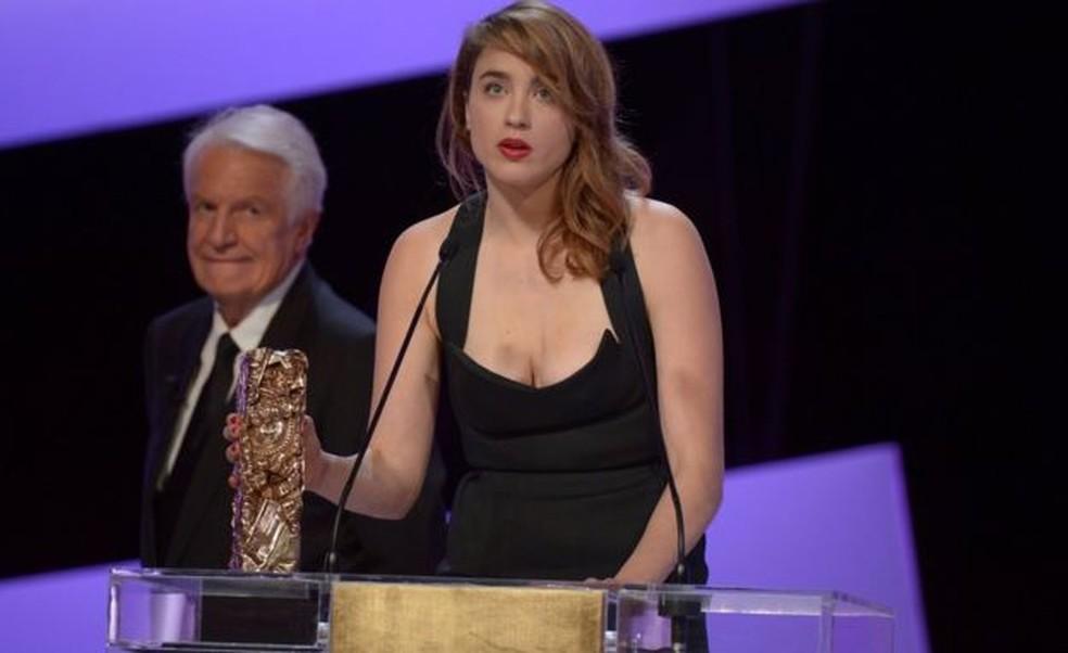 Adèle Haenel ganhou duas vezes o prêmio Cesar, equivalente ao Oscar na França — Foto: Getty Images via BBC