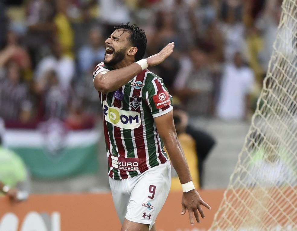 fbb2b4ebc8 ... Henrique Dourado comemora gol contra a Ponte Preta — Foto  André Durão