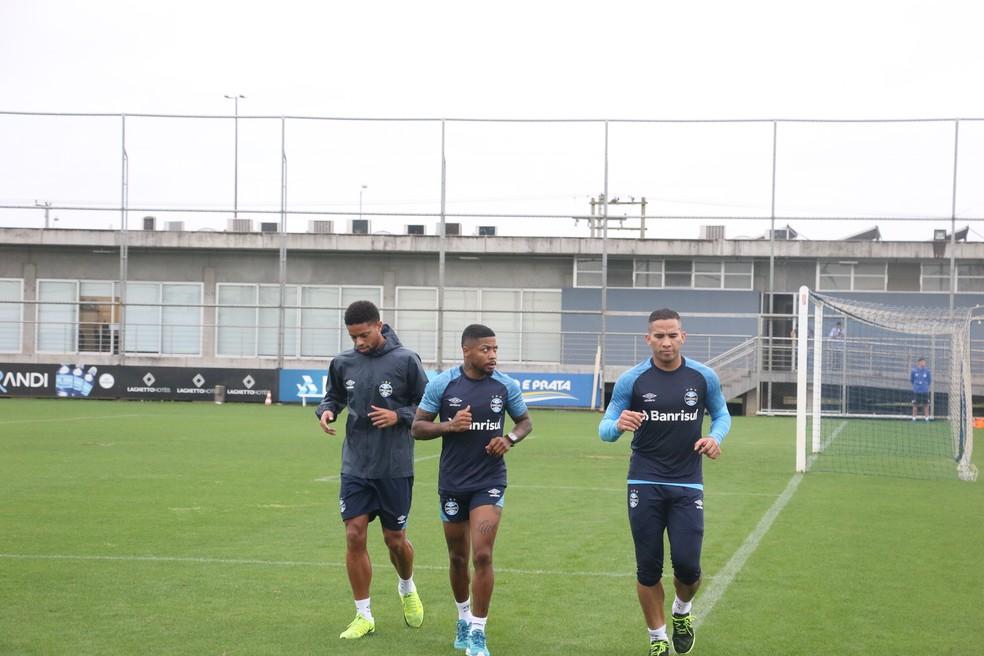 André, Marinho e Jael se recuperam de lesão — Foto: Eduardo Moura